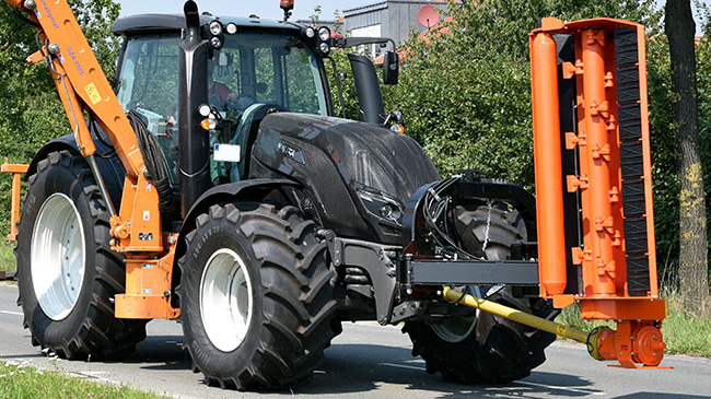 valtra unlimited custom tractor municipal task on the road